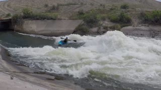 Professional Kayaker Shows Off His Moves In Montrose, Colorado
