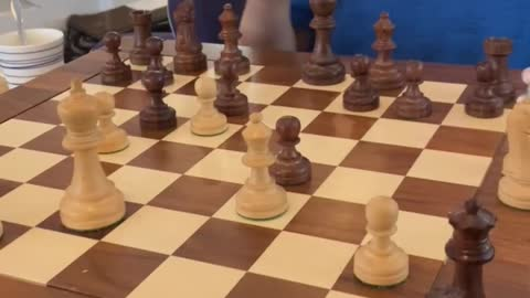 Distracted Edmund loses his queen to his 6 year old brother