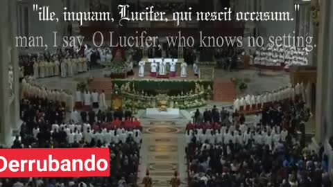 Pope announces the coming to Light of Lucifer the AntiChrist
