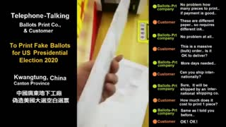 LEAKED PHONE CALL: Chinese businessman buys bulk order of fake U.S. general election ballots