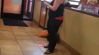 Customer Goes Crazy at Fast Food Restaurant