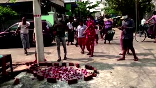 At least 12 killed in protests in Myanmar