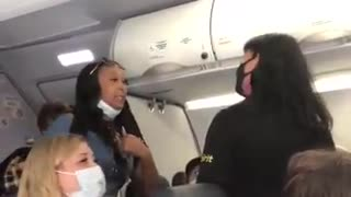 Woman claims flight attendant is invoking privilege when asked to stop blocking aisle