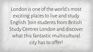 english courses in london - Video