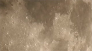 Extreme Moon Zoom Through Thin Cloud  - Video