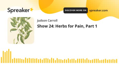 Show 24: Herbs for Pain, Part 1 (part 1 of 3)