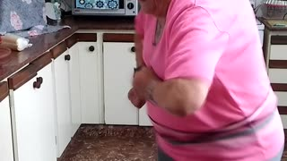 Dancing Grandma in Kitchen - Video