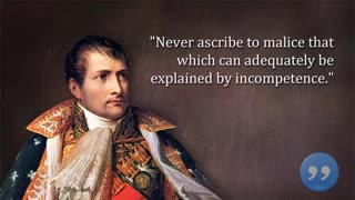 NAPOLEON BONAPARTE FAMOUS QUOTES - Video