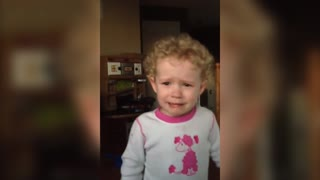Little Girl Cries Because Daddy Tells Her She Can't Have Beer - Video