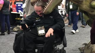 The Dinosaur at the ATA Trade Show - Video