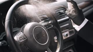 Car steering sterilization for protection
