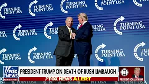 President Trump With Fox News Talks About The Passing Of Rush Limbaugh