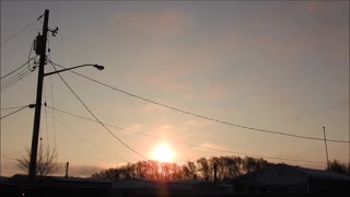 Sundogs With The Half Moon!  - Video