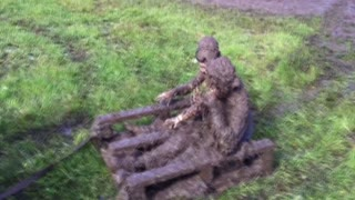 Dad Takes Kids For A Spin And A Mud Bath - Video