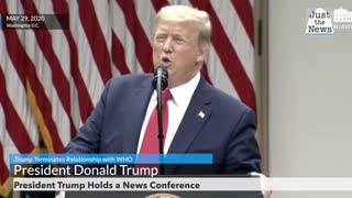 Trump terminates relationship with WHO