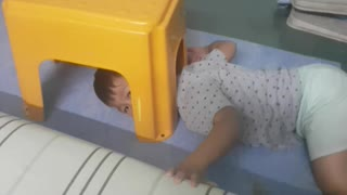 Little Kid Gets Head Stuck in Stool - Video