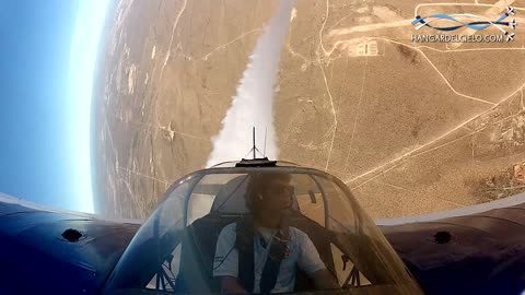 Cockpit view captures stunt plane's amazing Inverted flat spin