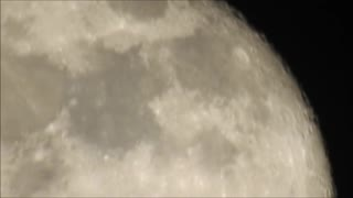 Blue Light From Super Moon Jan 2nd  - Video