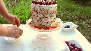 DIY: Simple and healthy watermelon cake - Video