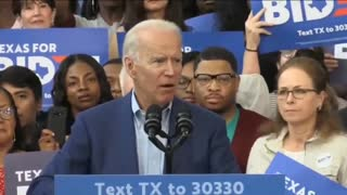 Biden powerful speech on ....