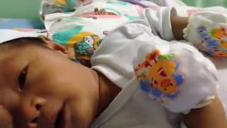 Cute baby smiles - Video