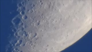 Christmas Moon in the Afternoon.  - Video