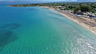 Drone images captures stunning beauty of Alykes Beach in Greece - Video