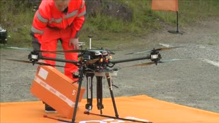 Finnish post office tests drone for parcel delivery - Video