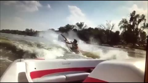 Epic fail: Guy gets run over by his own jet ski
