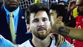 VIDEO: Messi In Tears After Final Loss-Argentina vs Chile 2016 - Video