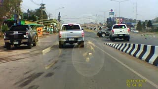 Reckless Thai Driver Causes Crash