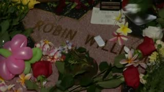 Fans gather to mourn death of Robin Williams - Video
