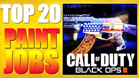 "Top 20 ""Paint Jobs"" in Black Ops 3"