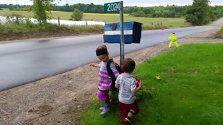 Caring Big Sister Gives Baby Brother Advice For First Day Of School