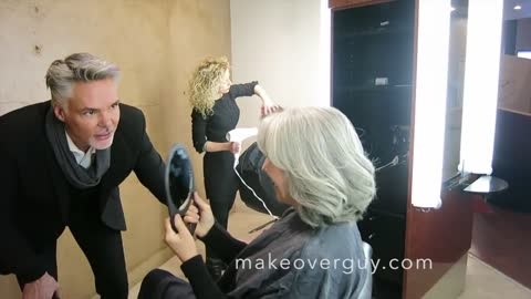 MAKEOVER: How to Grow Out Gray But Keep Some Color, by Christopher Hopkins, The Makeover Guy®