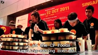 Dumpling Eating Contest - Video