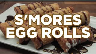 S'mores Egg Rolls - Delicious East Meets West Treat - Video