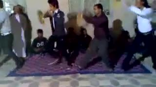 Men are dancing in a wedding party - Video