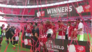 VIDEO: Manchester United squad celebrate winning the Community Shield - Video