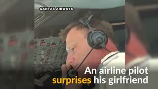 Pilot proposes to his girlfriend mid-flight - Video