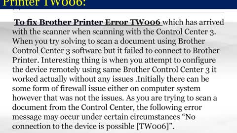 How to fix Brother Printer Error TW006 | Dial 44-800-046-5291