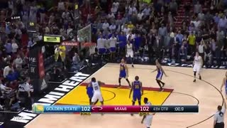 Dion Waiters DRAINS Game-Winning 3-Pointer vs Warriors, Kevin Durant SCARES Heat Fans w/ NASTY Dunk - Video