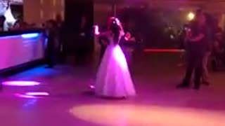 bride and groom dancing on the dance floor - Video
