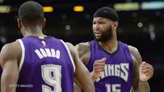 DeMarcus Cousins & Rajon Rondo Mock Ref, Both Receive Technicals - Video