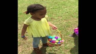 Adorable Toddlers Compete for Most Easter Eggs Found - Video