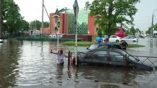 Rains in Russia Cause Flooding