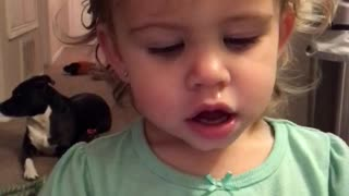 "Adorable toddler taking ""selfies""!"