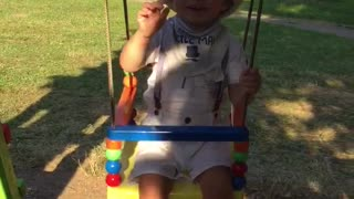 baby first swinging  - Video