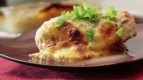 Cheesy mustard chicken recipe