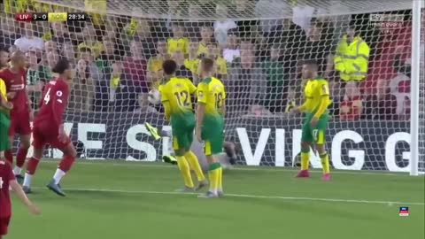 Liverpool vs Norwich City 4-1 goals - Assist and global goal for Mohamed Salah   Very exciting game